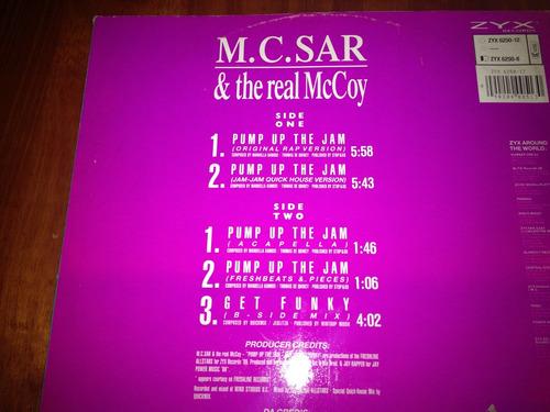 mc.sar & the real mc.coy - pump up the jam rap - maxi aleman