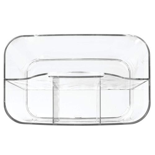 mdesign almacenamiento de baño caddie dividido bin - 4 secc