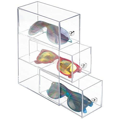 a6cf1d5a19 Mdesign Apilables Gafas Organizador Soporte Transparente ...