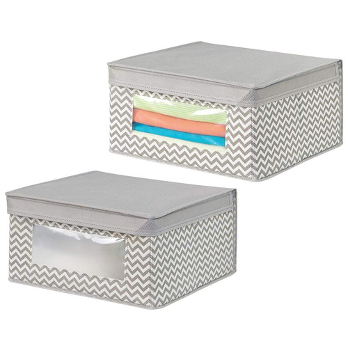 mdesign armario de tejido apilable, suave organizador almace