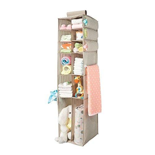 mdesign fabric hanging baby nursery storage organizer para r