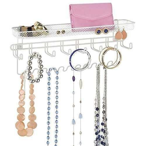 mdesign moda organizador de la joyería de anillos, pendient