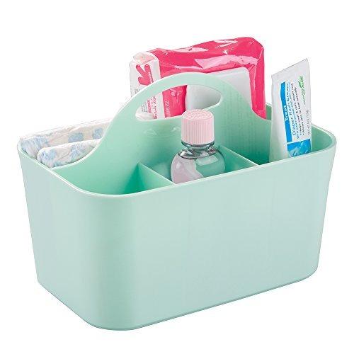 mdesign nursery storage caddy divided bin  bpa free  4 secti