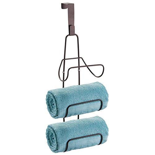 mdesign pared monte o encima puerta del baño toalla titular