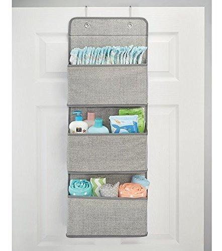 mdesign soporte de paredover puerta baby nursery organizador