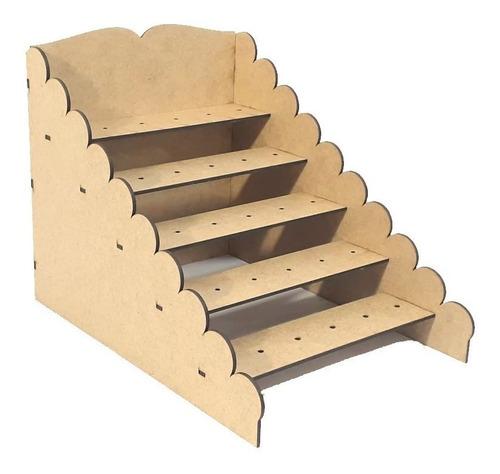 mdf - kit provençal para decoração de mesa com 34 itens