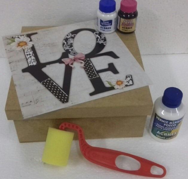 Mdf Kits Para Artesanato Em Mdf Caixa 20x20 Faça E Venda R 39