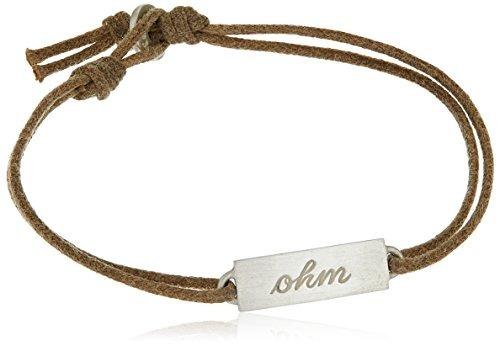 me & ro - brazalete de cordón con cordón de iones de doble c