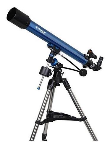 meade instruments 216001 polaris 70 eq refractor telescope b