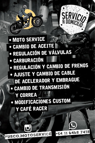 mecánica de motos a domicilio taller móvil