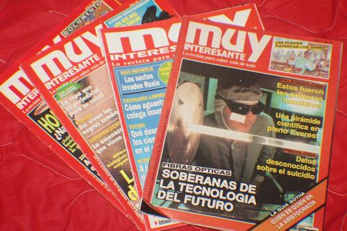 mecánica popular y muy interesante colección x 4 revistas