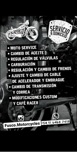 mecánico y service de motos a domicilio taller móvil