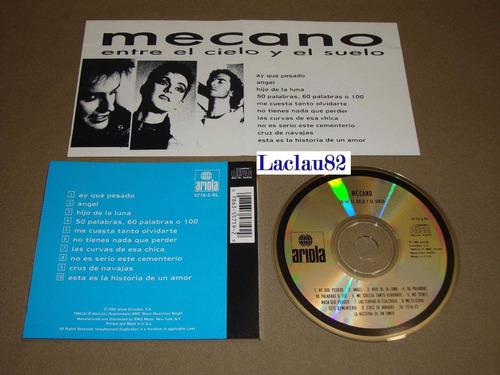 mecano entre el cielo y el suelo 1988 ariola cd usa