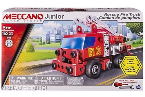 meccano junior rescue fire truck 163 piezas 91823 bigshop
