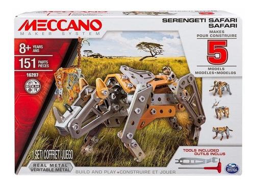 meccano serengeti safari 151 piezas 5 modelos en 1
