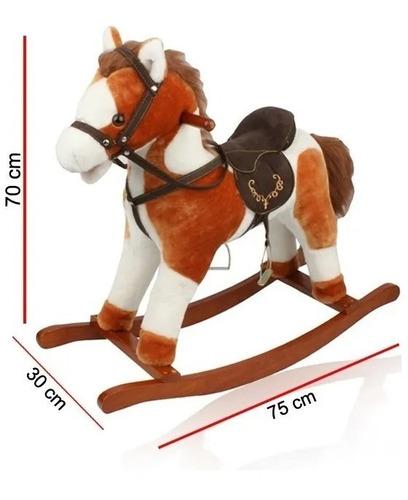 mecedor caballo peluche phi phi 9010 base madera hamaca edu