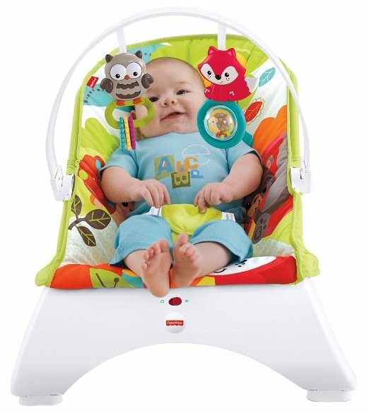 Sillita mecedora bebe bouncer fisher price woodland - Mecedora ninos ...