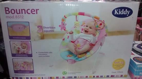 mecedora bebesit celeste y rosa