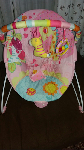 2149f3e90 Mecedora Bouncer Kiddy Rosa Bebe - $ 800,00 en Mercado Libre