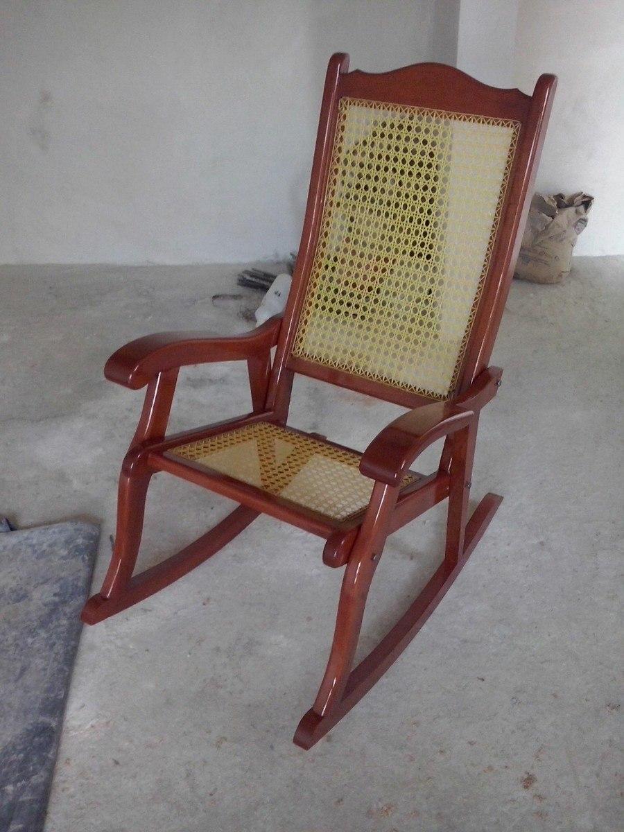 Mecedora Clasica En Madera De Cedro Tejida 1 900 00 En Mercado  # Muebles Mecedoras