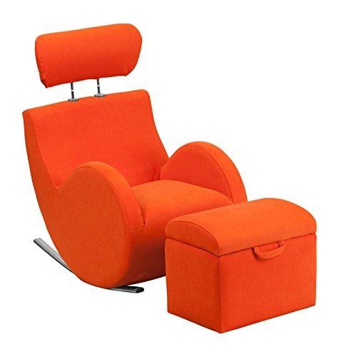 Mecedora Destello Mueble Tela Color Naranja - $ 974.900 en Mercado Libre