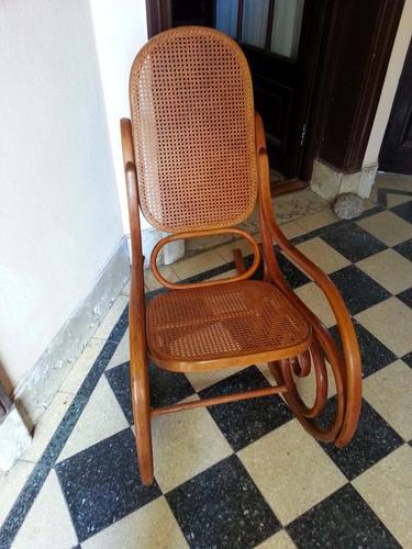 mecedora silla movil estilo thonet fines s.xix esterillada