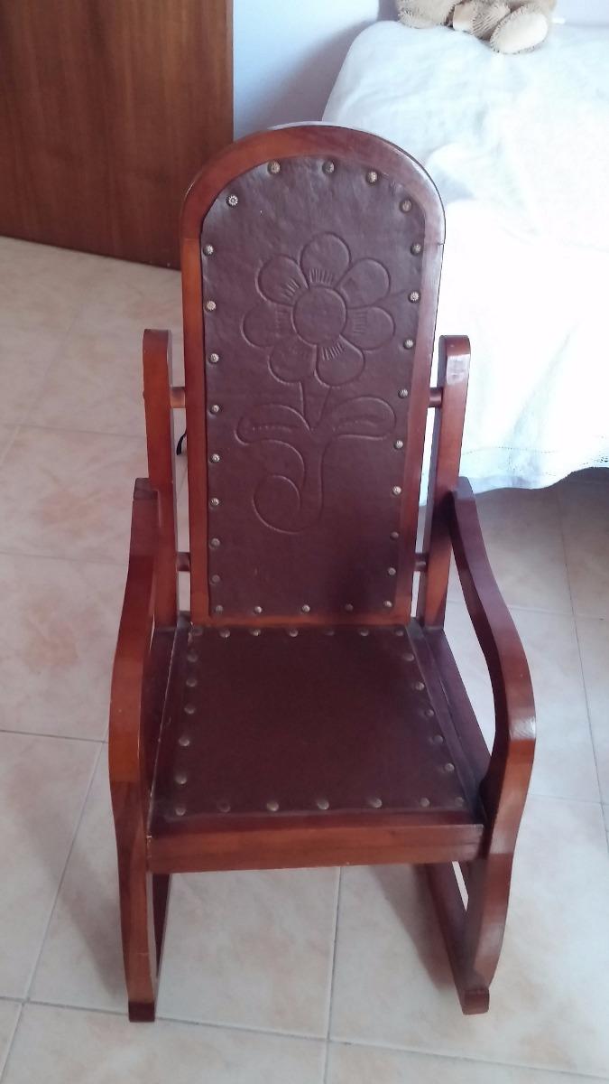 Mecedoras de madera y cuero para ni os bs - Cuero para tapizar sillas ...