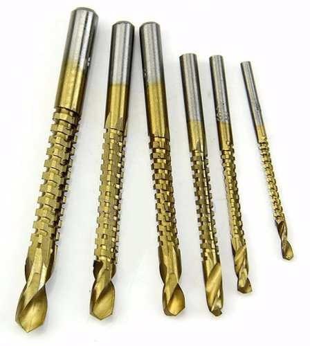 mecha broca acero rapido titanio perfora y corte lateral 6 p