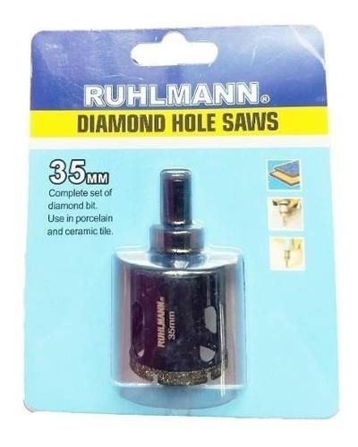 mecha copa diamantada porcelanato granito 35 mm ruhlmann