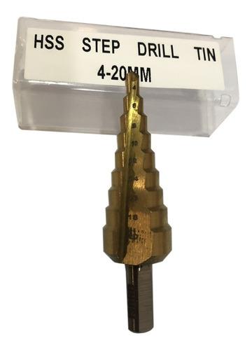 mecha escalonada para metales graduada titanio broca 4-20mm