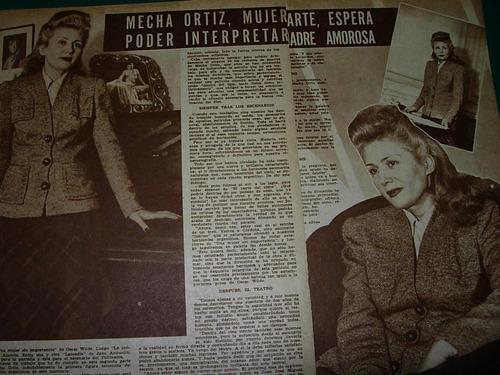 mecha ortiz mujer fatal arte clipping revista radiolandia