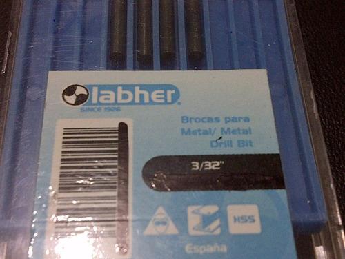 mecha p metal hss 3/32  labher original 04pzas 6verds