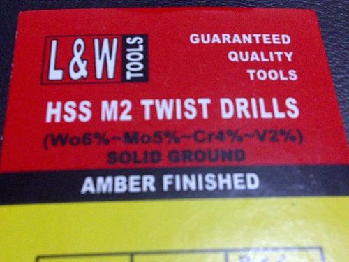mecha para metal hss acero rápido 3/32  l&w dorada 12 piezas