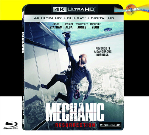 mechanic: resurrection 4k ultra +  blu-ray + hd original!!