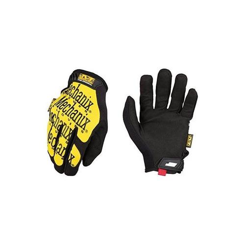 mechanix wear - guantes originales (medio, amarillo)