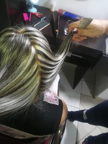 mechas en largo de cabello medio