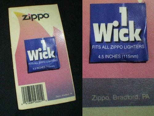 mechas zippo originales para encendedores y fosforeras