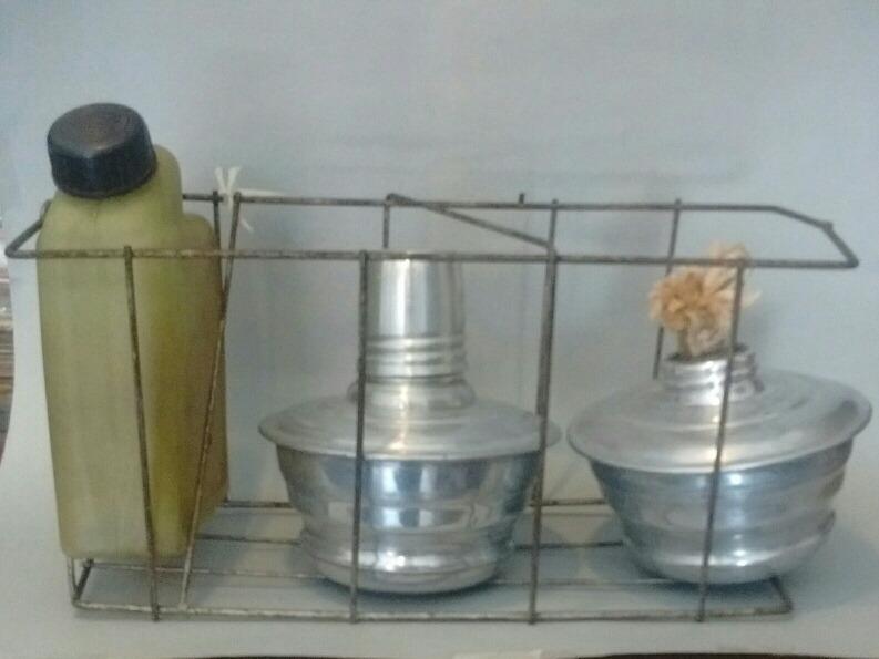 Mechero Baliza De Aluminio Con Canasto Y Bidon Deco Bruthos 565