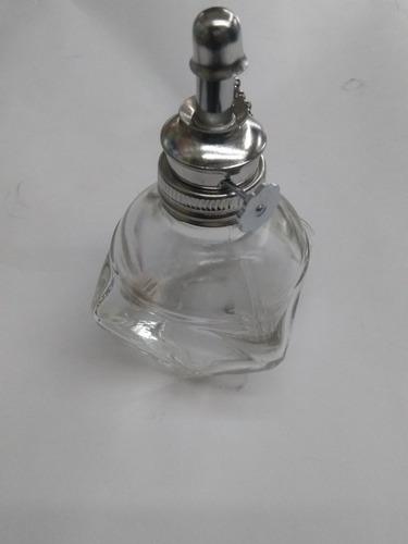 mechero de alcohol de cristal