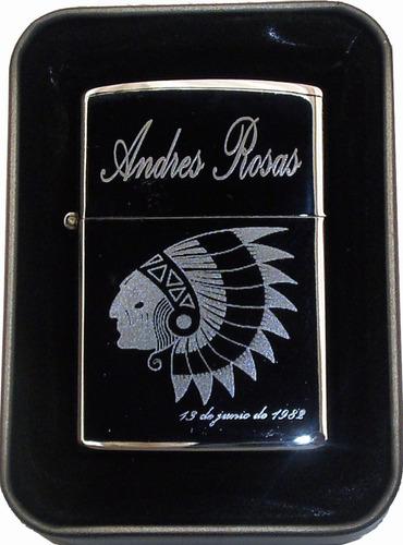 mechero encendedor clásico marcado foto dedicatoria grabado