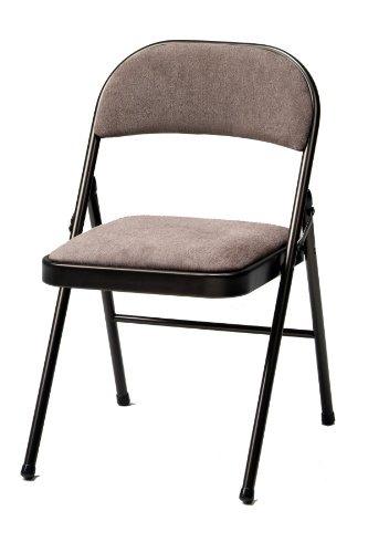 Meco silla plegable de lujo de tela acolchada 4 pack for Sillas plegables de tela