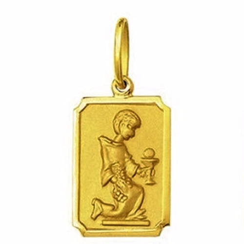 medalha 1,9 cm comunhao ouro 18k pingente