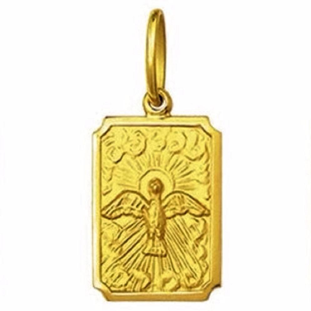 2827cf0a61a92 medalha 1,9 cm divino espirito santo ouro 18k pingente. Carregando zoom.