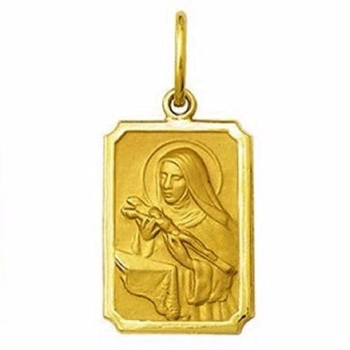 medalha 1,9 cm santa rita ouro 18k pingente
