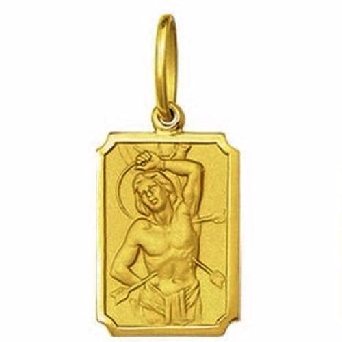 medalha 2,4cm sao sebastiao ouro 18k pingente
