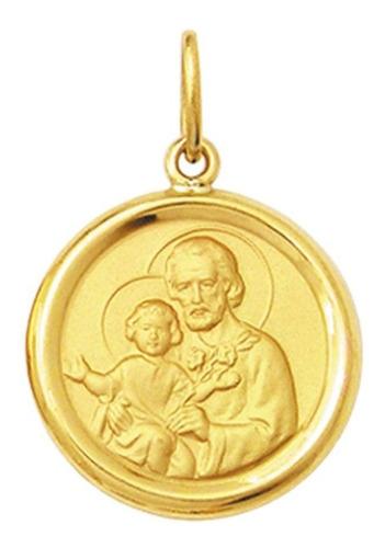 medalha 2.6cm  nossa senhora aparecida ouro 18k pingente