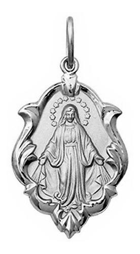 medalha 3.4 cm nossa senhora aparecida ouro 18k pingente