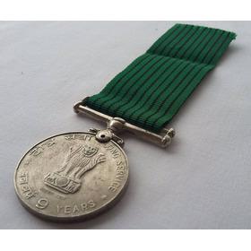 Medalha 9 Anos De Serviço Forças Armadas - Índia - Nomeada