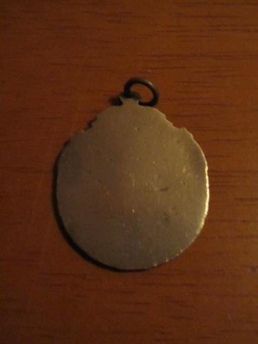 medalha antiga - tênis - sem inscrição - anos 40 - cobre