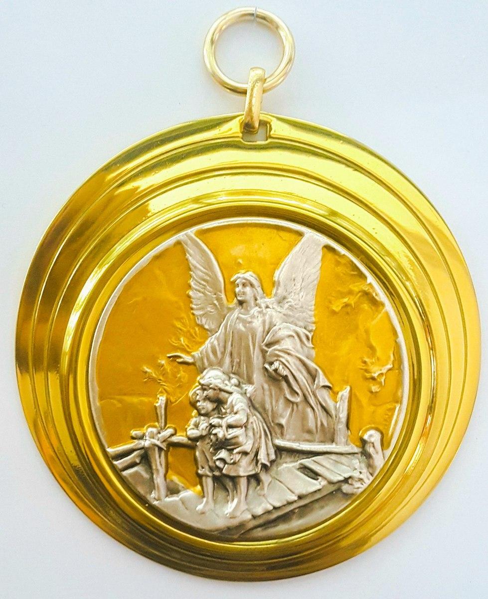 63fa8e423 medalha de berço italiano anjo da guarda. Carregando zoom.